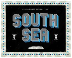 Strong Island Print Hellomatt #type #south #black #sea #blue #dimensional