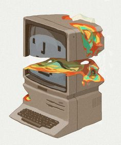 Stay Hungry Stay Foolish by *contraomnes on deviantART #illustration #computer #color #mac #destroy