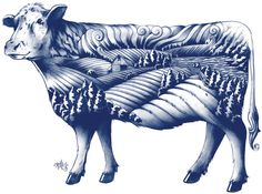 New Logo, Identity, and Packaging for Blue Goose Pure Foods by Sid Lee #illustration #packaging #blue #cow