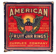 American Fruit Jar Rings #vintage #packaging #retro #american #fruit jar rings
