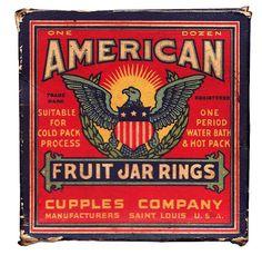 American Fruit Jar Rings #vintage #packaging #retro #american #fruit jar rings
