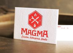 visual sundae #magma #cards #letterpress