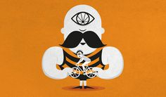 I Ciclopi / The Cyclopes by Combstudio.it #eye #illustration #cyclope #bike #bycicle #funny #moustache