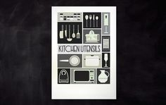 Esteve Padilla ➽ ohhh.ws #padilla #esteve #design #utensils #illustration #kitchen #poster