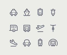 Transportation icons - Tom Nulens #icons #transportation