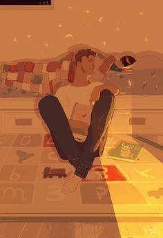 Good night Big guy - Pascal Campion #night #illustration