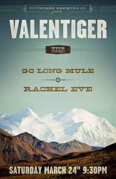 valentiger poster #sky #design #vintage #poster #mountains #typography