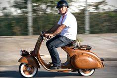 CJWHO ™ (Wooden Vespa Scooter by Carlos Alberto   via ...)
