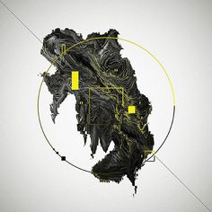 Short Stories on Behance #abstract #black #smoke #dust #3d #yellow #minimal
