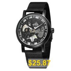 WINNER #Men #Fashion #Simple #Stainless #Steel #Manual #Mechanical #Watch #- #MULTI-D
