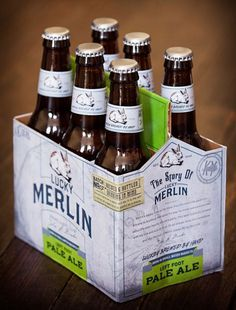 Lucky Merlin Beer Packaging