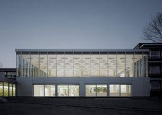 The Forum auditorium at Eckenberg Gymnasium by Ecker Architekten #school #architecture