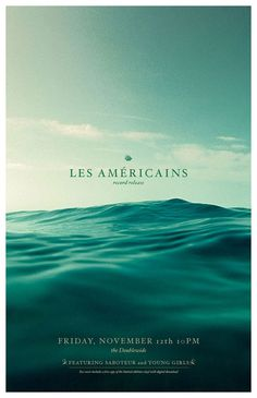Les Américins by Robert Efurd #design #graphic #poster #typography
