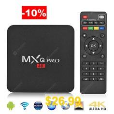 MXQ #Pro #64 #Bit #Android #7.1 #Smart #TV #Box #Quad #Core #1GB #RAM #8GB #ROM #4K #HD #2.4G #WiFi #Media #Player