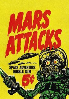 Mars Attacks #illustration #alien #mars #mars attacks