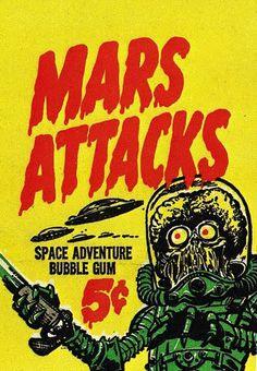 Mars Attacks #illustration #alien #mars #mars attacks