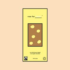 raw for taste #branding #color #chocolate #minimal #colour