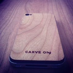 Cherry-wood iPhone cover for sale at CarveOn.com