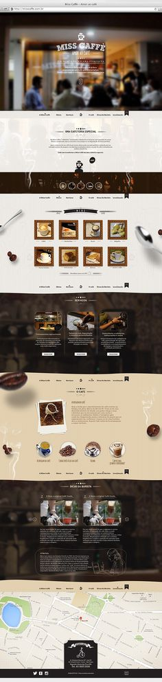 Website MissCaffè on Behance #webdesign #interface #coffe #web #uidesign