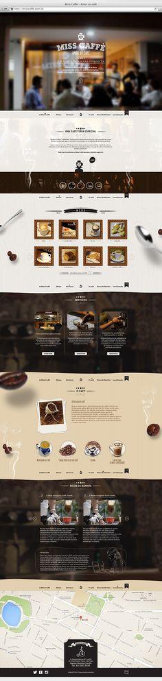 Website MissCaffè on Behance #webdesign #interface #coffe #web #uidesign