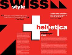Swiss Style Typography