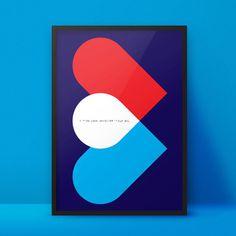 Blind Love Poster https://www.etsy.com/de/listing/222233371/blinde-liebe-plakat-and-postkarte #blind #3d #a2 #graphic #geometric #braille #minimal #poster #love