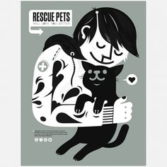 Pets print #poster #animal #silk screen #pet