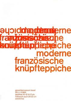 Twitter / @berger_pablo: the modern french tapestri ... #basel #swiss #design #graphic #emil #poster #ruder #type #typography