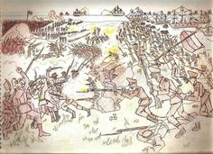 battle4.jpg (982×714) #soldiers #illustration #soviet