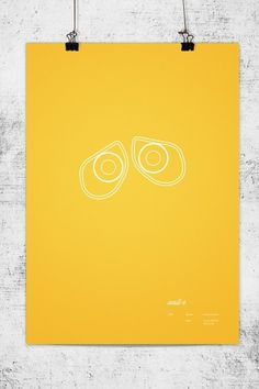 Pixar Minimal Posters on the Behance Network #walle #lee #wonchan #minimalism #rmit #melbourne #tribute #minimal #poster #minimalist #pixar