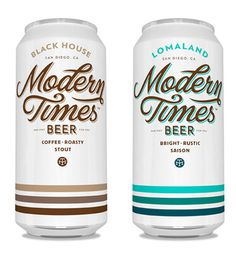 Modern Times beer packaging #typography #beer #clean #alcohol #beverage