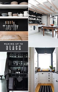 black, like i take my coffee / sfgirlbybay #interior #design #decor #deco #decoration