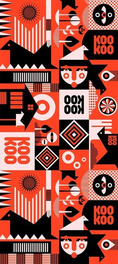 KooKoo letterbox's package pattern - Fernando Volken Togni #volken #illustrator #fernando #illustrated