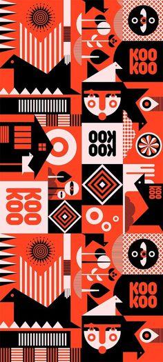 KooKoo letterbox\'s package pattern - Fernando Volken Togni