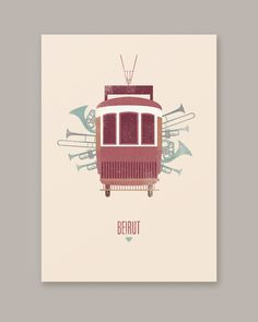 Póster Beirut Fan art mariadiamantes #mariadiamantes #design #illustration #poster #music #beirut