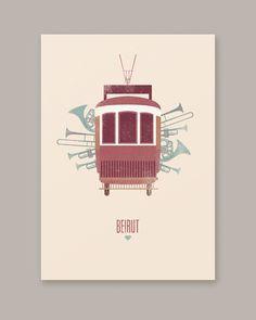 Póster Beirut Fan art mariadiamantes #mariadiamantes #design #illustration #poster #music #beirut