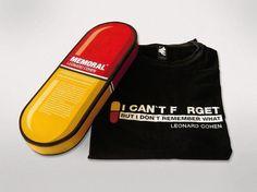 22DG Portfolio Leonard Cohen T-Shirt #cohen #packaging #tshirt #song #shirt #leonard #pill #22dg #music #typography