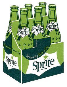 sprite #sprite #white #vintage #green