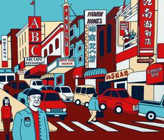 Juxtapoz Magazine - Maybe It's a Sign: Emily Fromm's Cityscapes