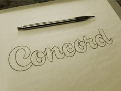 Dribbble - Concord Sketch by Jeffrey Devey #drawn #hand #typography