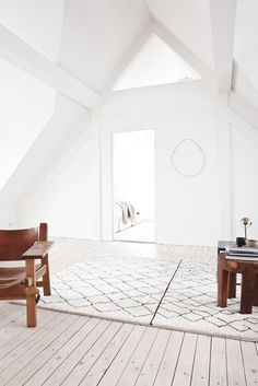 Attic living space. Vedbaek House III by Norm.Architects. #vedbaekhouseiii #normarchitects #attic