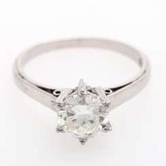 SCHILLING diamond solitaire ring