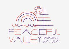 Spokane, WA by Eric Smith for Global Yodel #washington #travel #spokane #illustration #postcard #local #typography