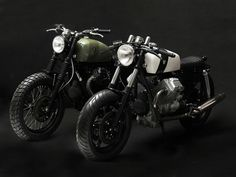 the tractor v75 reconstructed italian police bike by venier #moto