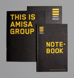 Amisa Group on the Behance Network #identity #yellow #mx