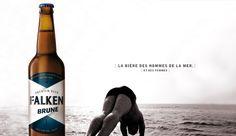 FALKEN. FRENCH BEER. BRUNE BOTTLE#FRENCH#BEER#PAS-SAGE.COM
