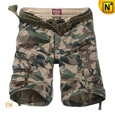 Military Style Mens Camouflage Cargo Shorts CW140060