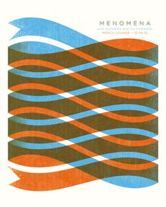 Menomena Poster #waves #poster