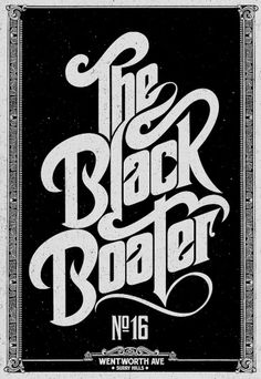 All sizes | The Black Boater | Flickr - Photo Sharing! #lettering #black #cover #boater #type