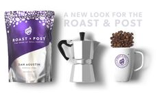 Roast & Post branding and coffee packaging, by Redspa http://redspa.uk
